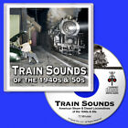 Train Sounds CD Steam & Diesel Locomotives for HO Scale Model Railroads