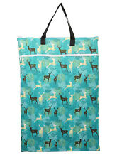 Large Hanging Wet Dry Pail Bag For Cloth Diapers Insert Nappy Laundry Regal Deer