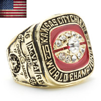 1969 Kansas City Chiefs Championship Ring #McVEA Super Bowl IV Size 7-15 Mens
