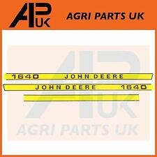 John Deere 1640 Tracteur Capuche Bonnet Decal Sticker Set Kit Emblème transferts