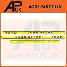 John Deere 1640 Tractor Hood Bonnet Decal Sticker Set Kit Emblem Transfers
