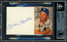 Mickey Mantle Autographed Signed 3x5 Index Card Yankees Beckett 11319102
