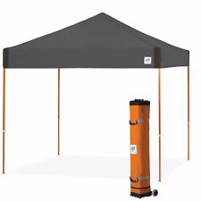 E-Z UP Pyramid 10 x 10ft Canopy Instant Shelter Easy Up - Steel Grey