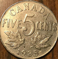 1935 CANADA 5 CENTS COIN - Nicer example!