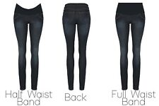 Women Skinny slim maternity jeans over/under bump size 8 leg 30 inch Pregnancy