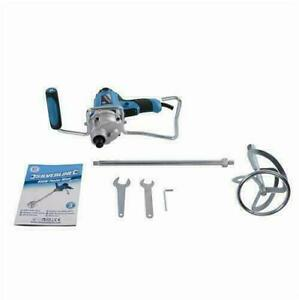 Silverline 850w Paddle Mixer 120mm Paint Cement Plaster with 120mm Dia Paddle