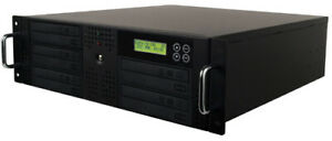 5 Burner CD DVD Disc Rackmount Duplicator Copier Standalone Machine+500GB+USB