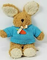 "Vintage 1994 Shilla 15"" Easter Bunny Plush Brown Rabbit Stuffed Animal Toy"