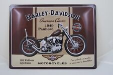 LARGE Tin Metal Embossed Sign HARLEY DAVIDSON 30X40CM Licensed knucklehead