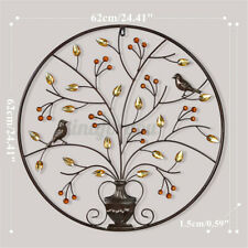 Carved Tree Of Life Wall Hanging Wooden Sculpture Ornament Home Garden Art