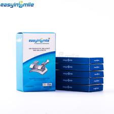 5Packs EASYINSMILE Dental Bracket Orthodontic Braces Mini MBT 022 3 4 5w/hook