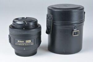 NIKON AF-S NIKKOR 35mm 1:1.8 G DX SWM ASPHERICAL LENS w/ CASE EXCL !!!