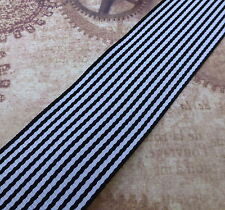 2.5 Meters Black and White Ribbon 38mm Wide
