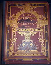 1874 Swiss Alps Lake & Mountain Scenery. 24 Albumen photos, Closs, Froelicher