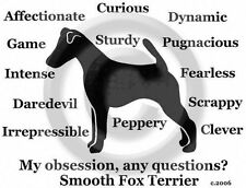 Smooth Fox Terrier dog My Obsession? T-shirt Sale Ladies or Unisex Choices