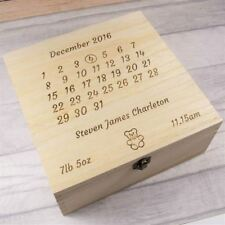 Engraved and Personalised Baby Keepsake Box - Newborn, Personalised Baby Gifts