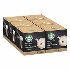 STARBUCKS Coffee Dolce Gusto Latte Macchiato or Cappuccino 6 Packs 72 Capsules