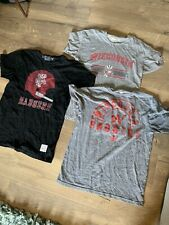 Lot Of 3 Wisconsin Badgers Mens Shirts Size M Distant Replays Adidas Retro Brand