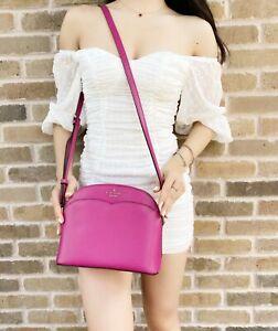 Kate Spade Payton Dome Medium Crossbody Bag Deep Magenta Pink