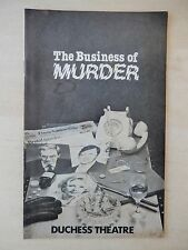 June 1981  - Duchess Playbill - The Business Of Murder - Francis Matthews