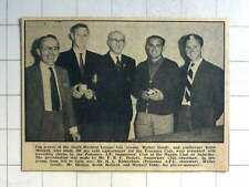 1963 Top Scorer SW League Walter Goody, Goalkeeper Keith Mollard, Penzance