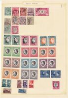 SOUTH AFRICA PRE 1960 ALBUM PAGE OF 42 STAMPS
