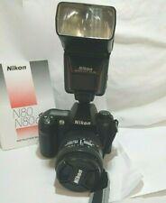Nikon N80  Camera With Nikon AF NIK 28-105  Lens & Nikon Speedlight  SB-24 Flash