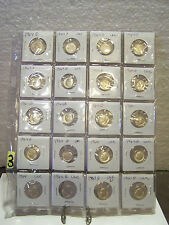 20 Roosevelt Dimes 90% Silver $2 Face Mixed 1960's Lot 3