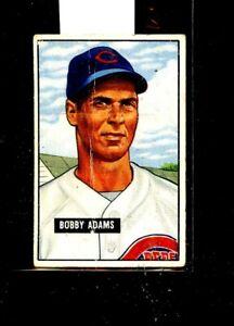 1951 BOWMAN #288 BOBBY ADAMS REDS GOOD E01636