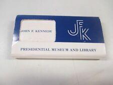 VTG JFK Presidential Library Matchbook Set John F. Kennedy