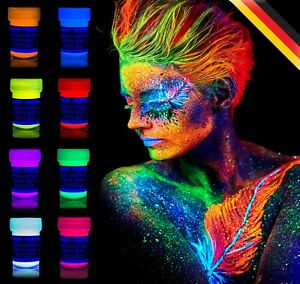 Premium Quality Painting Set Neon Glow In The Dark Face And Body Paint Party UV
