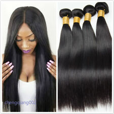 1-4 Bundle Unprocessed Remy Peruvian Virgin Human Straight Hair Extensions Weave