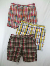 2 PAIR Women's Plaid Shorts Dockers Low Rise Slightly Curvy Stretch Size 12P