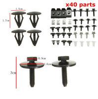 40 Pieces Car Engine Cover Bottom Shield Guard Screws For Toyota Avensis