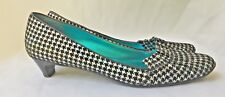 SHOES Slip On Pumps Heels 38 7 Black Suede Hounds tooth IRREGULAR CHOICE Brand
