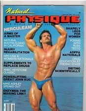 NATURAL PHYSIQUE bodybuilding magazine/Danny Leblanc/Russ Testo w/poster 1-89