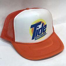 bec12ac41b691 Tide Racing Team Vintage 80s 90 s NASCAR Trucker Hat Snapback Orange Mesh  Cap
