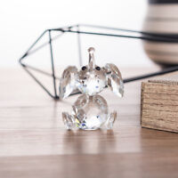 Crystal Glass Clear Elephant Paperweight Figurine Animal Home Office Table Decor