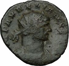 AURELIAN receiving globe from nude Jupiter 272AD  Ancient Roman Coin  i40883