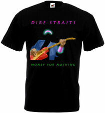 Dire Straits - Money For Nothing T-shirt black poster all sizes S...5XL