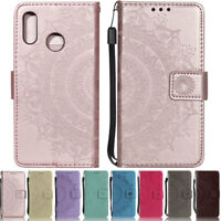 Mandala Wallet Leather Flip Case Cover For Huawei P20 Lite Mate 20 Lite Y9 2018