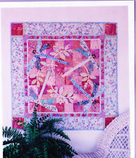 Dragonfly Meadow - fun pieced & applique wall quilt PATTERN - Java House