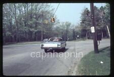 Chrysler Newport Convertible Car At Traffic Light Vintage 1967 Slide Photo