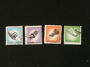AJMAN STATE 1972 SPACE CRAFTS SET 4 STAMPS - FINE USED