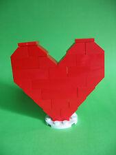 Lego rotes Herz auf runder weißer Platte  ähnlich 40004