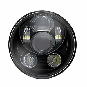 Wisamic 5-3/4 5.75 inch LED Headlight: Compatible with Harley Davidson Dyna