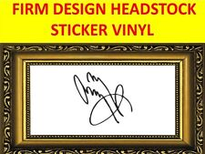 STICKER HEADSTOCK FIRM THE JIMMY PAGE LED ZEPPELIN VISIT OUR NEW STORE CUSTOM