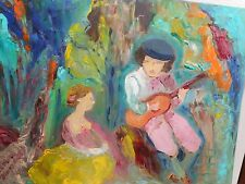 Original Oil Painting on canvas - VALENTINE LOVE SONG