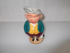 Vintage Toby Character Jug [ Spud ] With Dog Burlington Ware John Shaw & Sons