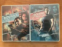 Bourne Identity + Ultimate Steelbook exclusive Blu Ray + DVD 4 discs / Two Sets